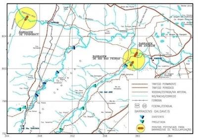 Estudo de viabilidade de barragens na área da bacia do alto Itapicuru-açu