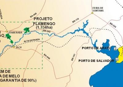 Estudo de viabilidade do projeto de irrigação calderão-flamengo na bacia do Rio Paraguaçu
