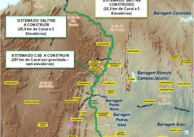 Estudo de viabilidade e anteprojeto do Canal do Sertão Baiano